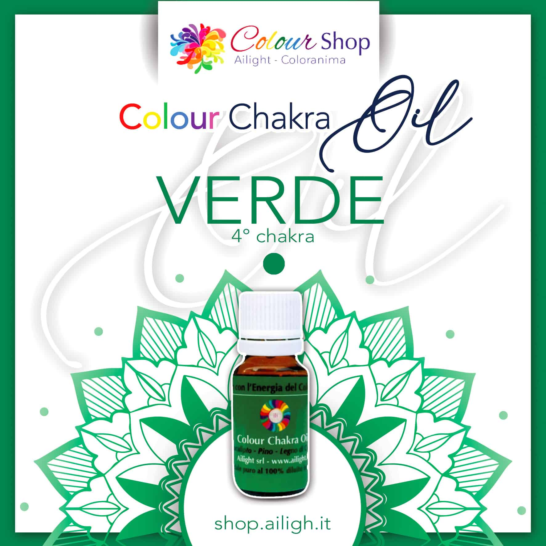 Colour chakra oil Verde
