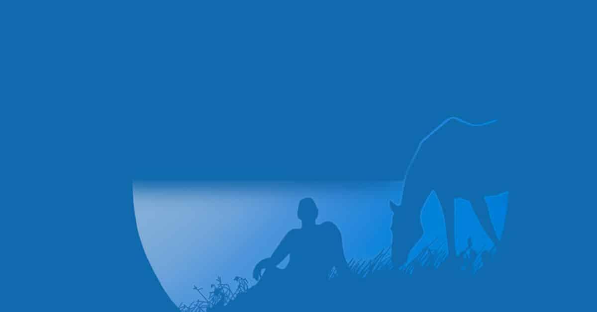 Illustrazione colore blu