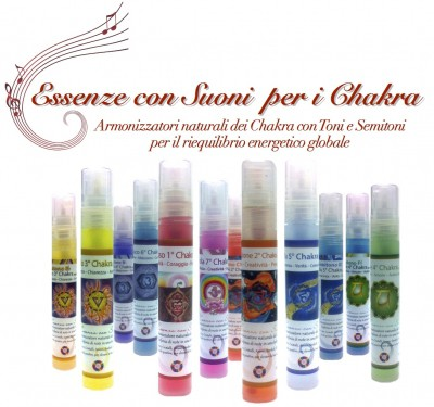 Essenze con suoni per i chakra assortite