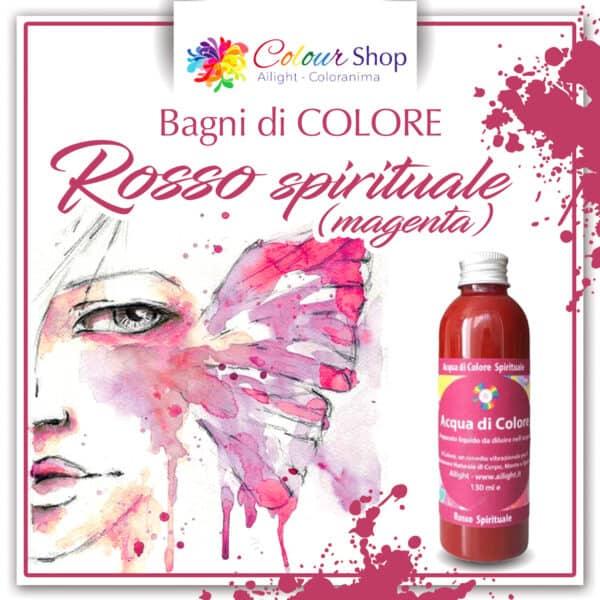 Bagno di colore Rosso spirituale (magenta)