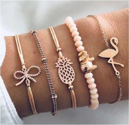 Set 5 bracciali simboli sacri – Gioielli per l'anima